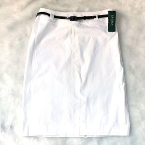 NWT Ralph Lauren Fountainhead White Denim Skirt
